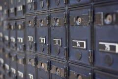 Rijen van gesloten brievenbus Royalty-vrije Stock Afbeelding