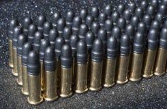 Rijen van munitie Stock Afbeeldingen