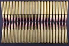 Rijen van munitie samen Stock Afbeeldingen