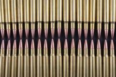 Rijen van munitie samen Stock Fotografie