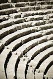 Rijen van oud amfitheater royalty-vrije stock afbeeldingen