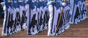 Rijen van plechtige troepen stock fotografie