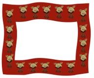 Rijen van Roze Varkens met Rode Geruite Bogen Stock Afbeelding
