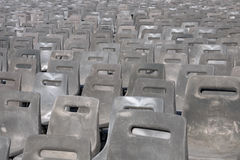 Rijen van stoelen in perspectief Stock Foto's