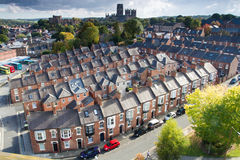 Rijen van Terrasvormige Huizen in Durham Royalty-vrije Stock Fotografie