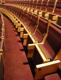 Rijen van theaterzetels Stock Foto's
