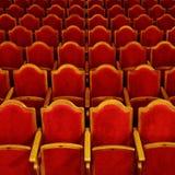 Rijen van theaterzetels Royalty-vrije Stock Afbeeldingen