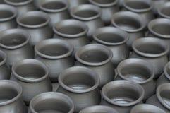 Rijen van traditionele kleipotteries in Bhaktapur, Nepal Stock Fotografie