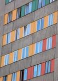 Rijen van vensters Stock Fotografie