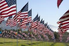 Rijen van vlaggen Stock Foto's