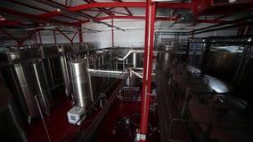 Rijen in winemakerfabriek stock footage