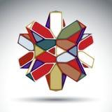 Rijk 3d abstract dat van driehoeken wordt geconstrueerd en geometrisch cijfer Royalty-vrije Stock Foto
