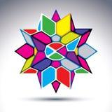 Rijk 3d abstract psychedelisch die cijfer van geometrisch e wordt geconstrueerd Royalty-vrije Stock Foto's