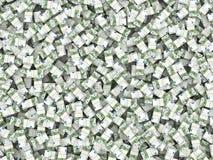 Rijkdom. Achtergrond van pakken van euro Stock Afbeelding