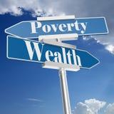 Rijkdom of Armoedetekens vector illustratie