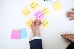 Rijkdombeheer en financieel concept, Team van het Bedrijfsboekhouding analyseren en berekening op de investeringsfonds van waarde stock foto