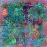 Rijke de batikachtergrond van de kleurentextuur royalty-vrije illustratie
