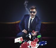 Rijke gokker stock foto's
