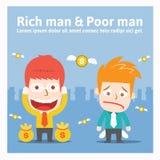 Rijke man & Slechte mens Royalty-vrije Stock Foto's