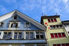 Rijke stad ZÃ ¼ in Zwitserland Stock Afbeeldingen