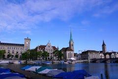 Rijke stad ZÃ ¼ in Zwitserland Stock Foto