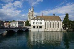 Rijke stad ZÃ ¼ in Zwitserland Royalty-vrije Stock Afbeeldingen