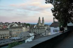 Rijke stad ZÃ ¼ in Zwitserland Royalty-vrije Stock Afbeelding