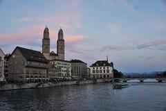 Rijke stad ZÃ ¼ in Zwitserland Royalty-vrije Stock Foto's