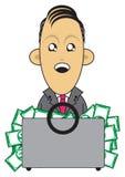 Rijke zakenmanillustratie Stock Afbeelding