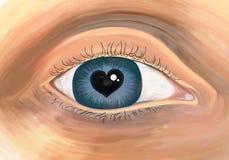 Rijkelijk oog Stock Foto