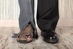 Rijken en Armen Stock Foto