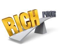 Rijken tegenover armen Stock Afbeelding