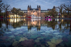 Rijksmuseum在阿姆斯特丹 图库摄影