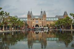 Rijksmuseum看法在阿姆斯特丹 库存照片