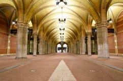 Rijksmuseum自行车隧道在阿姆斯特丹 库存图片