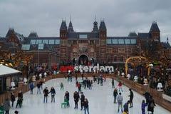 Rijksmuseum, Άμστερνταμ (το Δεκέμβριο του 2015) Στοκ Εικόνες