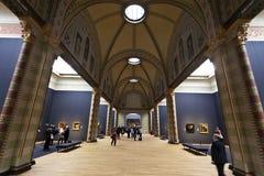 Rijksmuseum Амстердам - главный выставочный зал Стоковое фото RF