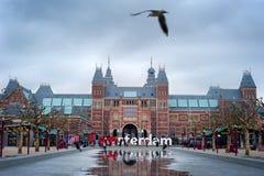Rijksmuseum Amsterdão Fotos de Stock Royalty Free