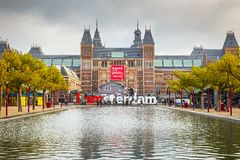 Rijksmuseum in Amsterdam Lizenzfreies Stockbild