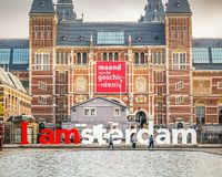 Rijksmuseum in Amsterdam Stockfotografie