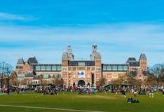 Rijksmuseum in Amsterdam royalty-vrije stock afbeeldingen
