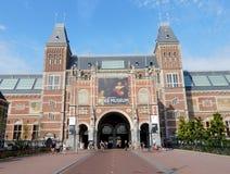 Rijksmuseum Amsterdam die, 1885, het Nationale museum van de staat, met Middeleeuwse verschijning bouwen Stock Fotografie