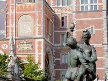 Rijksmuseum Amsterdam die, 1885, het Nationale museum van de staat, met Middeleeuwse verschijning bouwen Royalty-vrije Stock Afbeelding