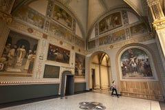 Rijksmuseum Amsterdam - huvudsaklig mässhall Arkivbilder