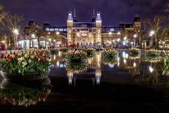 Rijksmuseum in Amsterdam stock image