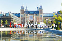 Rijksmuseum in Amsterdam Netherlands Royalty Free Stock Photo