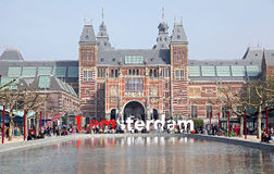 Rijksmuseum in Amsterdam, Netherlands Royalty Free Stock Photos