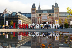 The Rijksmuseum in Amsterdam Royalty Free Stock Images