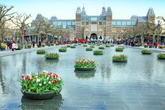 Rijksmuseum in Amsterdam Netherlands Royalty Free Stock Photography