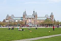 Rijksmuseum em Amsterdão os Países Baixos Imagens de Stock Royalty Free